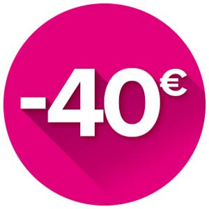 Cashback de 40€